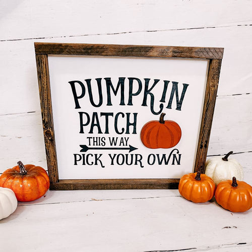 Pumpkin Patch 3D Sign