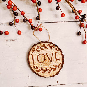 Rustic Wood Slice Ornaments