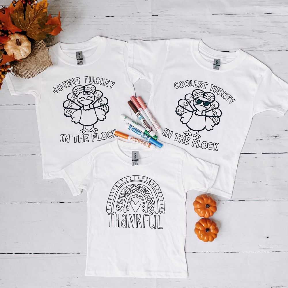 Thanksgiving Color Me Tees