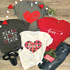 Love Tees - Multiple Designs (+FREE EARRINGS)