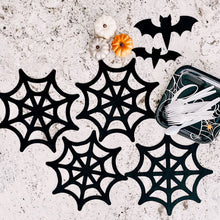 Load image into Gallery viewer, Spooky Halloween Bats & Spider Webs