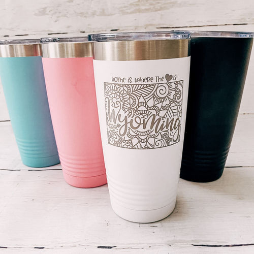 Customized Heart & Home 20oz Tumbler