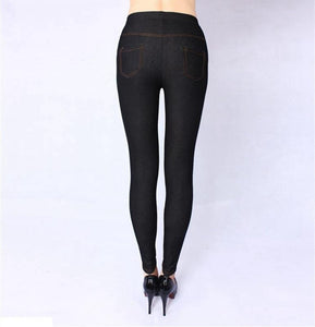 Spring and Autumn Style High Quality Women leggings Super elastic Denim soft and breathable 115kg 5XL Plus size women's pants-rodewe