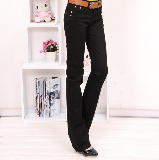 Free shipping Plus Size Women 's Fashion Boot Cut Trousers Candy Colors Pants pencil pants Long Fashion Slim Formal Trousers-rodewe