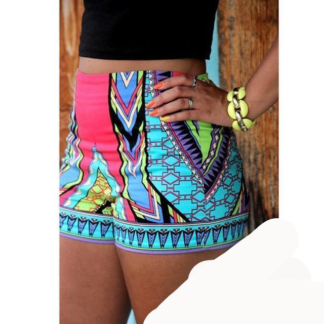 GZDL Hot Sale New Style Sexy Boho Fashion Women's Sexy Hot Short Summer Casual Shorts High Waist Short CL2979-rodewe