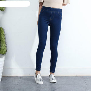 BIVIGAOS Spring Fall Women Simple Basic Jeans Elastic Denim Pants Pencil Jean Leggings Pants Jeggings For Women Jeans Trousers-rodewe