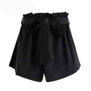 Simplee Ruched sashes high waist shorts women Solid color pocket bud shorts Summer casual streatwear hot shorts-rodewe
