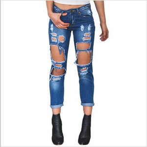 2017 New Jeans Woman Ripped Jeans With High Waist Soft Button Trousers For Women Vintage Plus Size Torn Jeans Boyfriends-rodewe