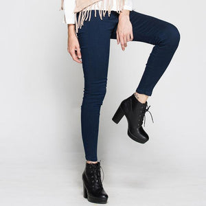 Jocoo Jolee High Waist Pencil Pants Jeans Sexy Slim Jeans For Women High Street Style Elastic Skinny Pants Trousers 2017 New-rodewe