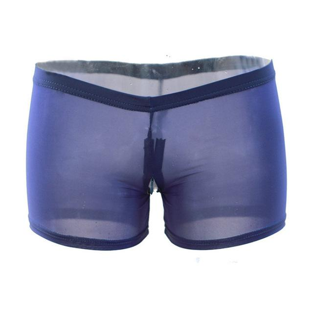 Zipper Open the crotch Mesh Shorts for women Sexy Transparent Under-wear Ultra-thin ultra-short short pants one size-rodewe