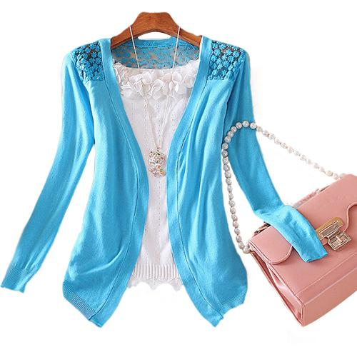 Bluelans Lady Korean Style Candy Color Crochet Knit Top Coat Sweater Cardigan Summer Crochet Blouse-rodewe