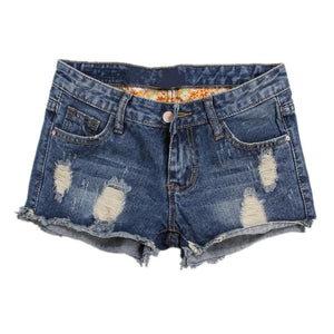 Europe Blue Denim Shorts For Women 2018 Summer New Brand Trendy Slim Casual Plus Size 36 Womens Jeans Shorts-rodewe