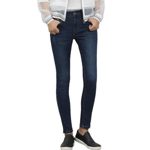 2018 LEIJI JEANS Mid Waist For Women Skinny Jeans Causal Style Blue Demin Pant Plus Size S-6XL Mid Elastic Full Length Jeans-rodewe
