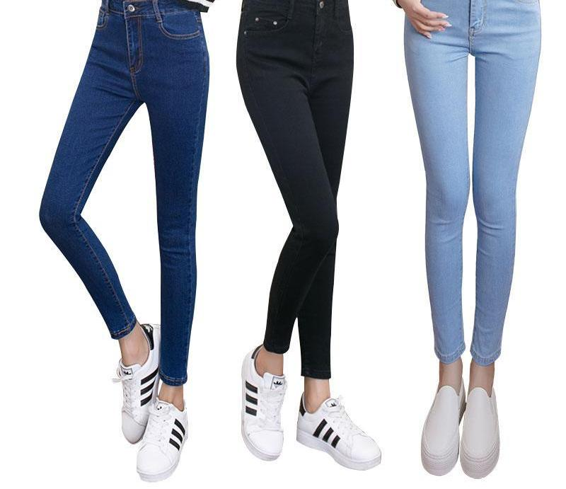 womens colored skinny jeans plus size women's jeans with high waist jeans black blue female Denim Pants Trousers Pencil Skinny-rodewe