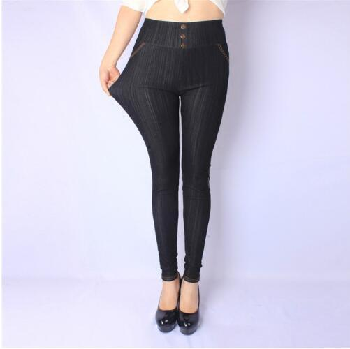 Free Shipping 2018 Female Super Stretch Pencil Pants Women High Elasticity Leggings Imitated Jeans Fashion Pant Plus-Size L-5XL-rodewe