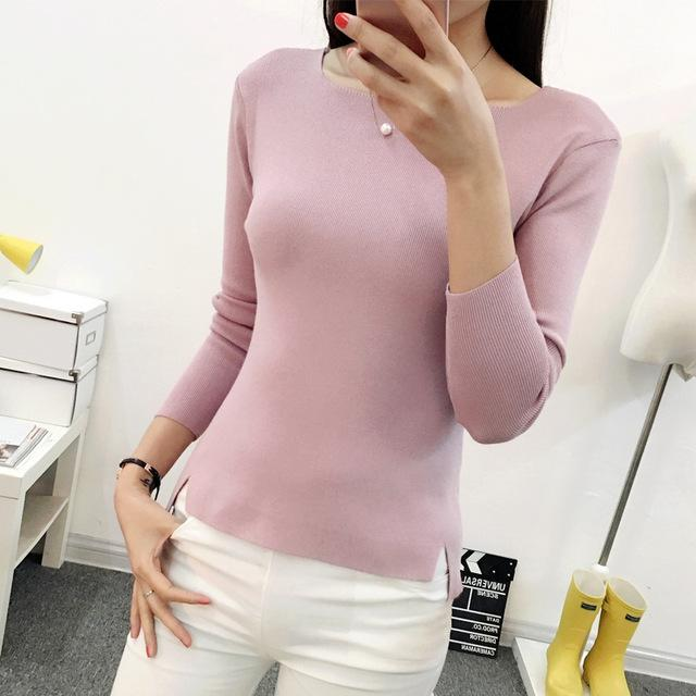 OHCLOTHING 2017 new spring short sleeved shirt collar Pullover Sweater Korean female thin-rodewe