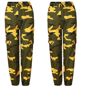 Women/'s Camo Cargo Trousers Casual Pants Military Army Combat Camouflage Vintage