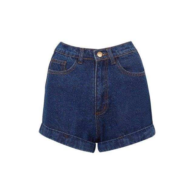 Wixra Basic Denim Shorts For Women 2018 Summer New Branded Trendy Slim Plus Size Short Pants High Waist Casual Jeans Shorts-rodewe