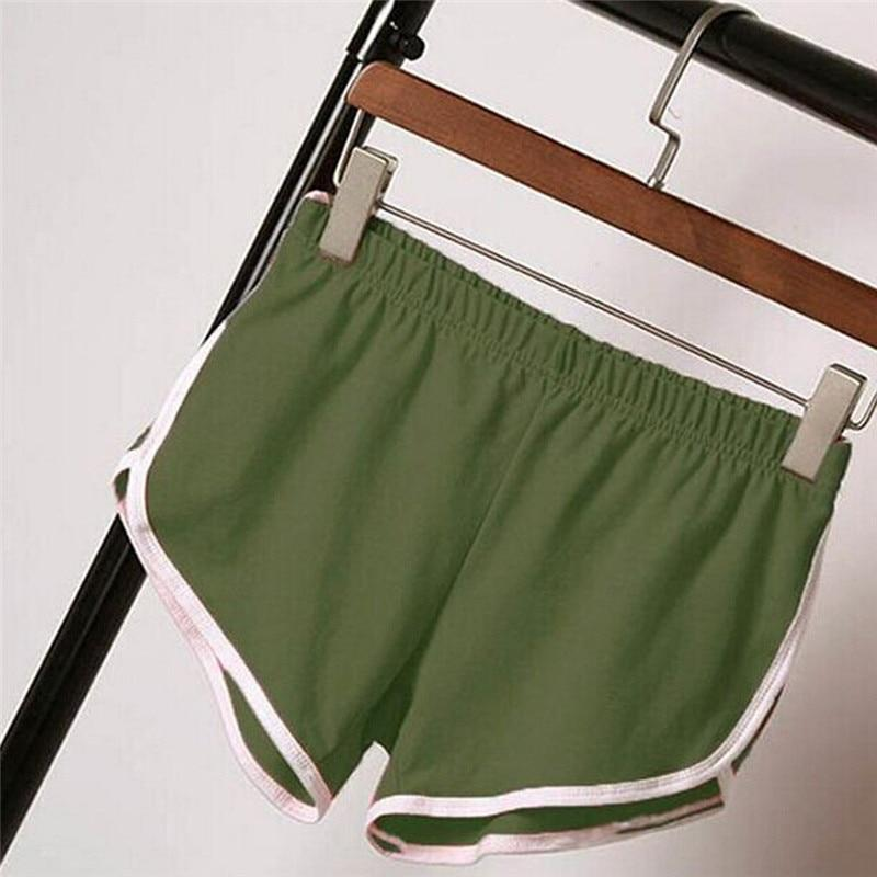 #5505 New Summer Women Causal high waist leisure Shorts Workout Waistband Skinny Short-rodewe