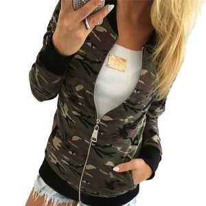 #2533 Women Camouflage Jacket Coat Autumn Winter Street Jacket Women Casual Jackets D45-rodewe