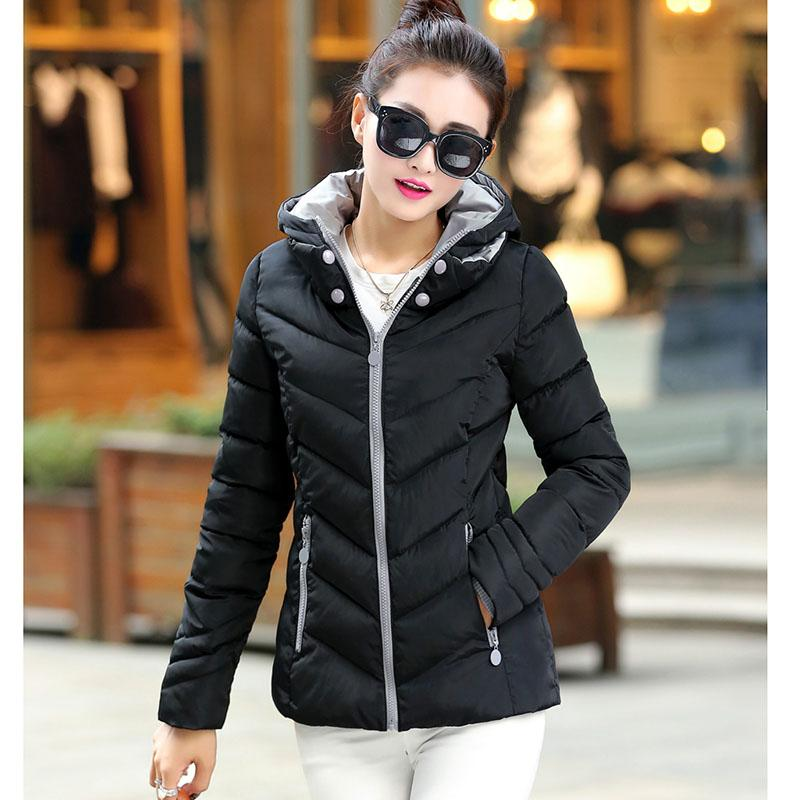 2018 autumn and winter Down new Korean female thick coat fashion feather padded jacket women short paragraph Slim parkas 7349-rodewe