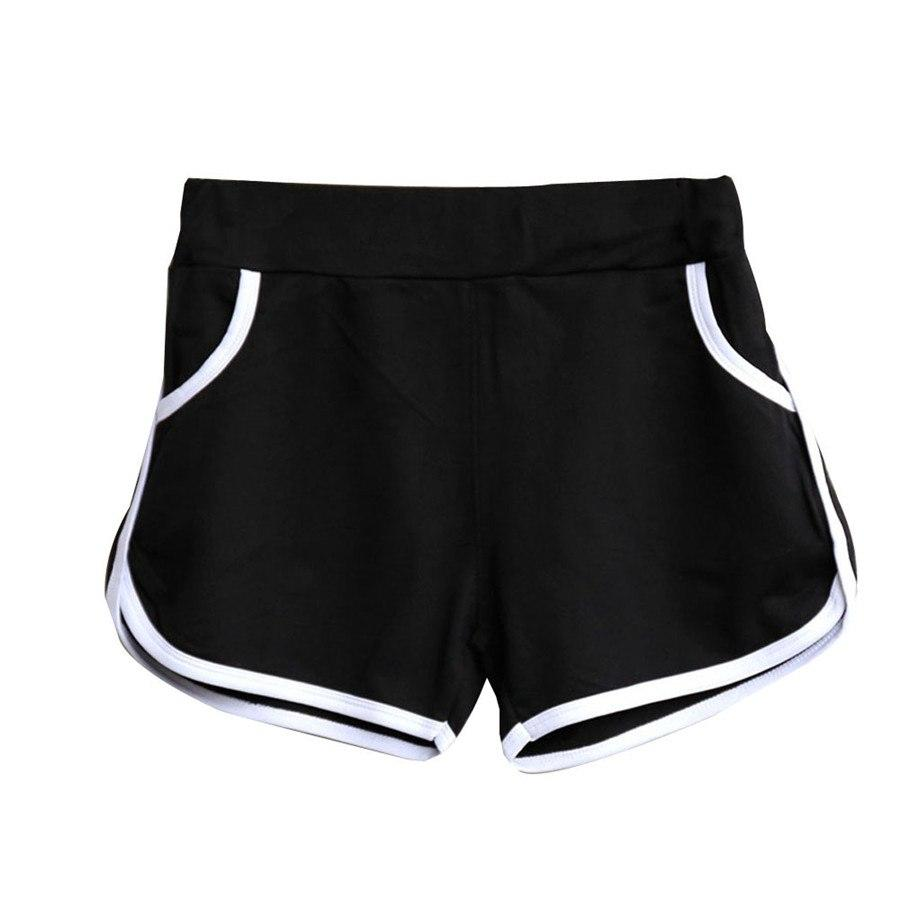 #5505 New Design New Summer Women high waist leisure black Shorts Workout Waistband Skinny Short-rodewe
