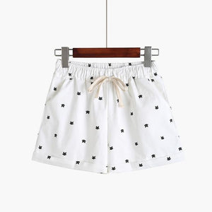 DANJEANER 2018 New Cotton Women's Casual Shorts home-style cat's head candy-colored Shorts-rodewe