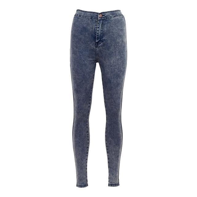 WIXRA Basic Jeans Women Fashion Pencil Jeans Casual Denim Stretch Skinny Jeans Femme Vintage High Waist Jeans Women Slim Pants-rodewe