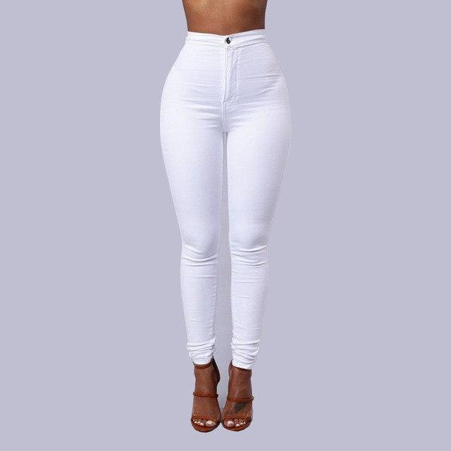 New 2018 Summer Skinny Jeans Women Cotton Denim Pants Knee Thin Pencil Pants  Casual Trousers Black 00fe078ef705