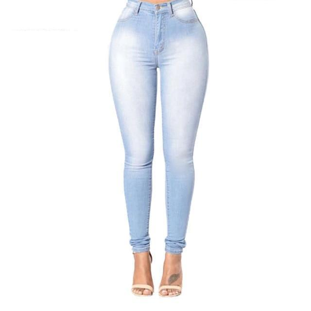 Elastic cotton women jeans zipper fly bleached skinny lady denim pants with pockets stretch cowboy trousers plus size ZB-D049-1-rodewe