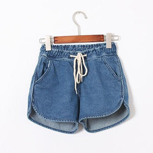 2018 New Arrival Fashion Brand Summer Women Shorts Loose Cotton Short Casual female Slim High Waist Denim Shorts Pure C1085-rodewe