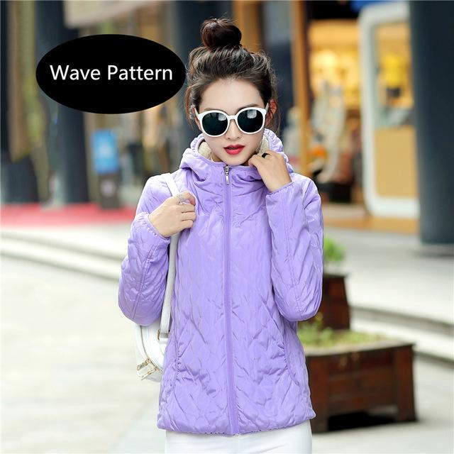 2018 fashion women winter hooded coat long fleece thin slim spring basic jacket female outerwear short girls jaqueta feminina-rodewe
