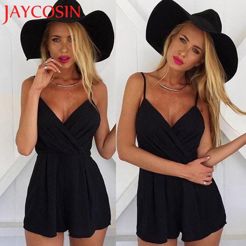 JAYCOSIN 2017 Summer Rompers Women Sexy Playsuit Bodycon Party Jumpsuit Romper Trousers Clubwear C7612Q Free Shiping-rodewe