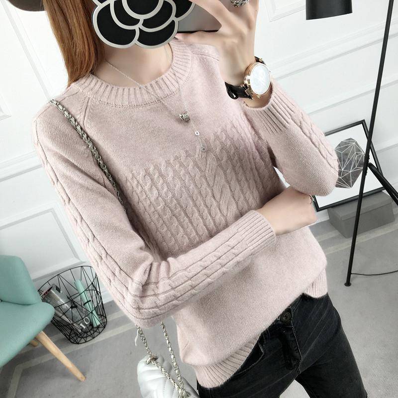 PEONFLY 2018 Autumn Winter Knitted Sweater Women Women Sweaters And Pullovers Female Crochet Jumper Pull Femme Black White-rodewe