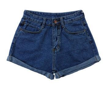 New Spring Summer Retro high waist Women denim shorts Blue loose short female thin curling fashion lager size short jeans women-rodewe
