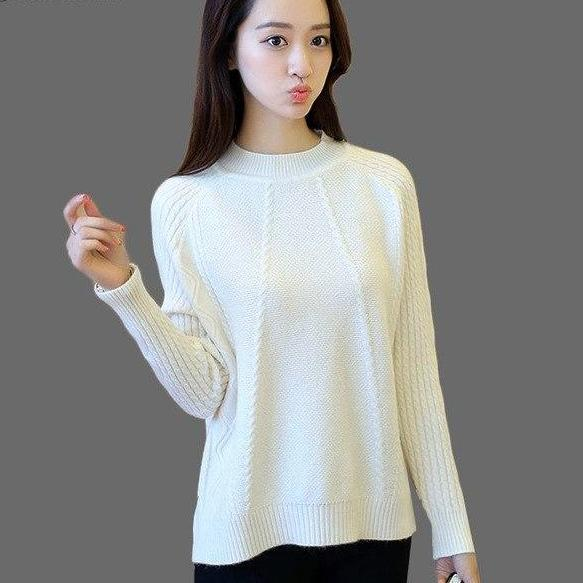 f3cc96879a Casual Autumn Winter Knitted Sweater 2018 Knit High Elastic Jumper Women  Sweaters And Pullovers Female Pull