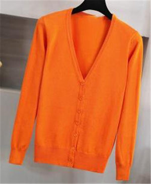 2018 New 13 Solid Colors Fashion Women Sweater Female Cardigan Outerwear Knit Long-sleeve Sweater casual M-4XL Cardigan OK518-rodewe