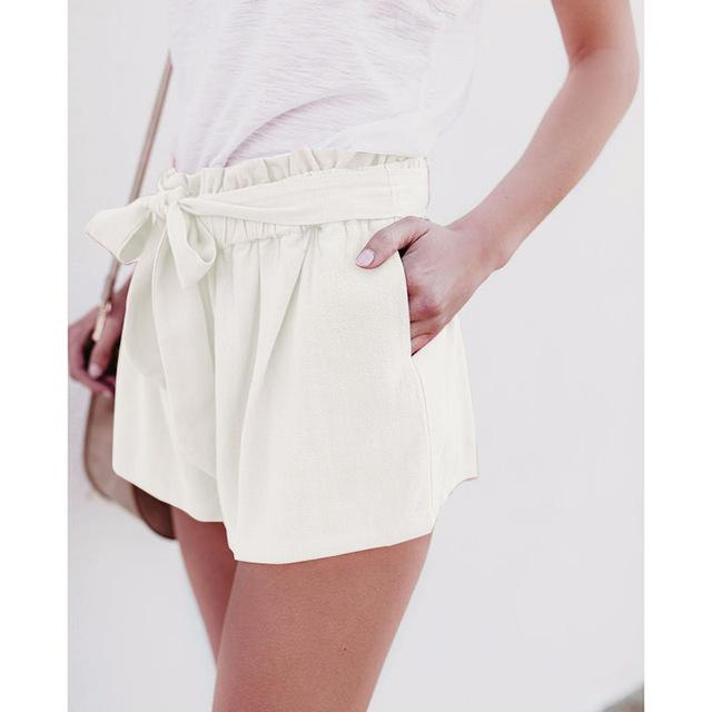 Summer Shorts Women Lady Sexy Shorts High Waist Casual Shorts With Bow Shorts Trousers WS7578M-rodewe