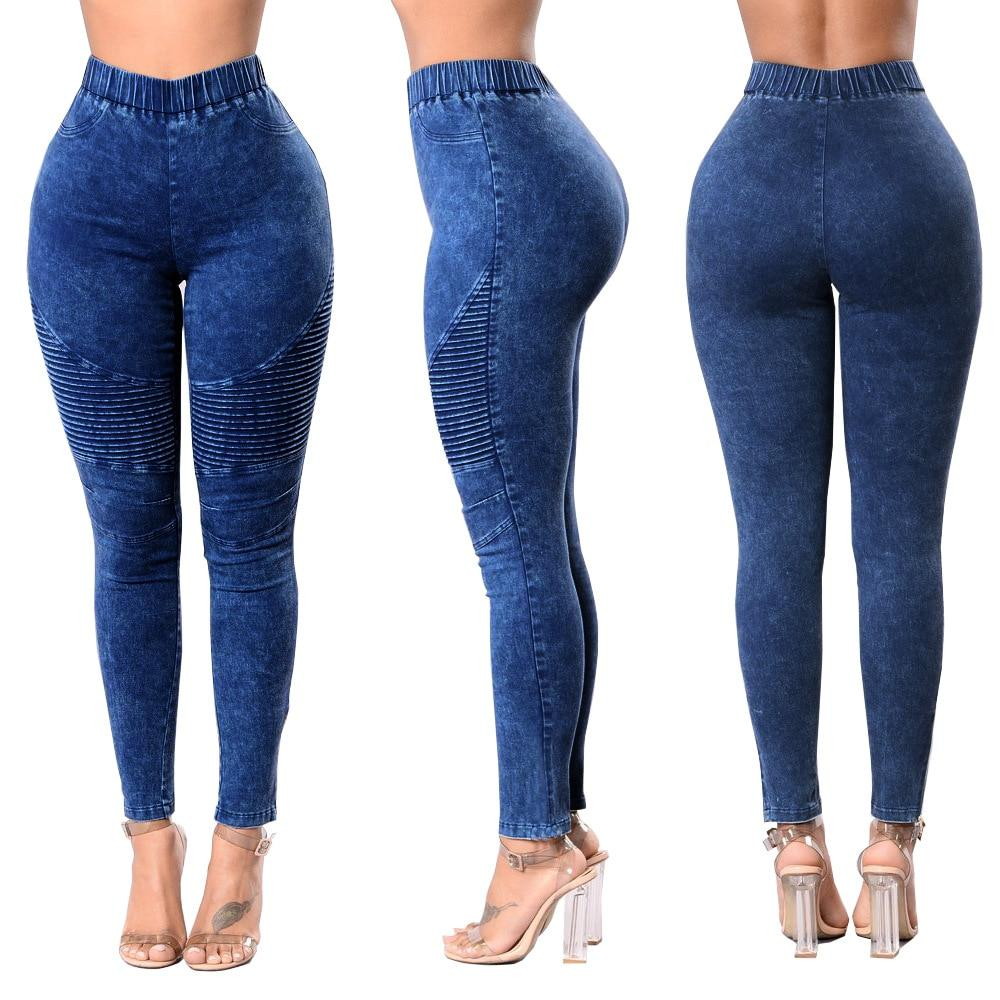 DD NEW Solid Wash Skinny Jeans Woman High Waist winter Denim Pants Plus Size Push Up Trousers Bodycon Pencil Pants Female-rodewe