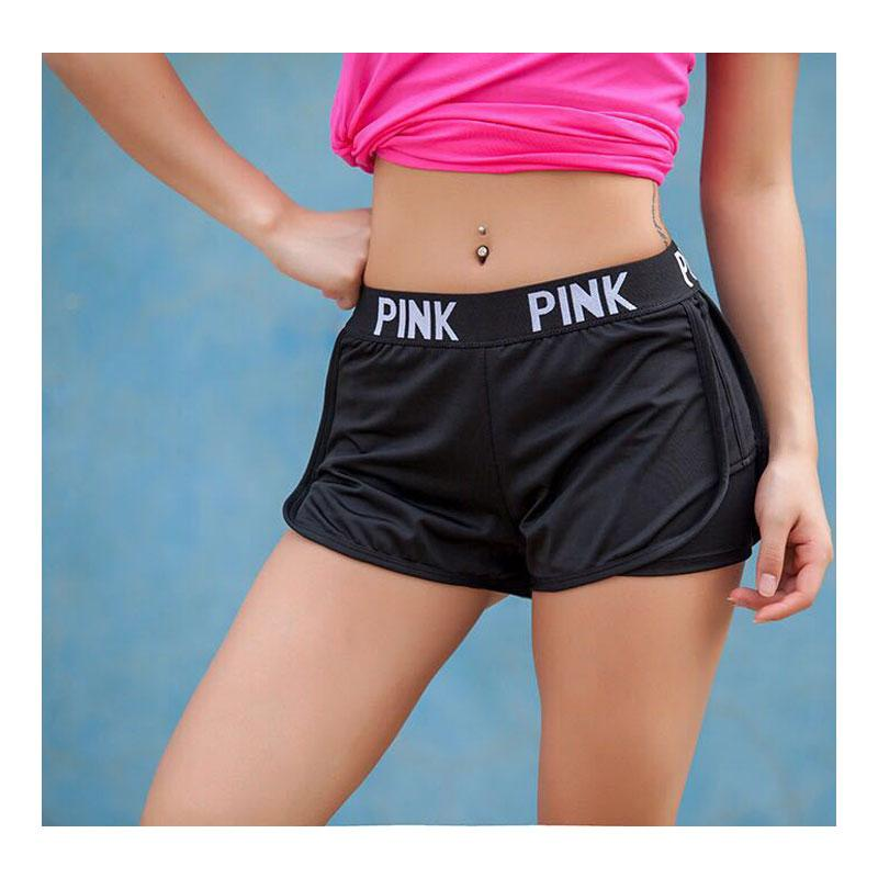 Summer Women Ladies Casual Shorts Cozy Multi Colors Breathable Elastic Waist VS Secrect Pink Shorts Striepd Body Fitness Workout-rodewe