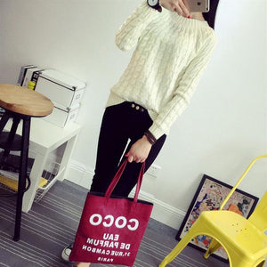 2018 Women Knitted Sweater And Pullovers Solid Color Casual 9 Colours Long Sleeve O-neck Twist Knitted Sweater-rodewe