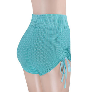 Sexy Slim fitness Wear Shorts Elastic High Waist Shorts 2018 Women Butt Scrunch Shorts Sporting Runs Female Solid Color Short-rodewe