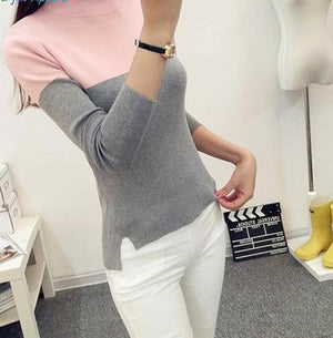 FATIKA Fashion Women Long Sleeve Turtleneck Pullover Sweaters Pullover Female Lover Pull Femme Winter Sweaters-rodewe