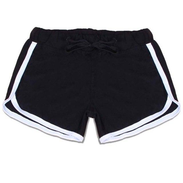 Hot Sale Shorts For Women Drawstring Elastic Waist Contrast Binding Side Split Shorts Cotton Work Waistband Fit New Shorts 2018-rodewe