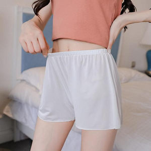 YRRETY Women Soft Seamless Short Pants Summer Under Skirt Shorts Modal Ice Silk Breathable Short Elastic Waist Style L-XXXL-rodewe