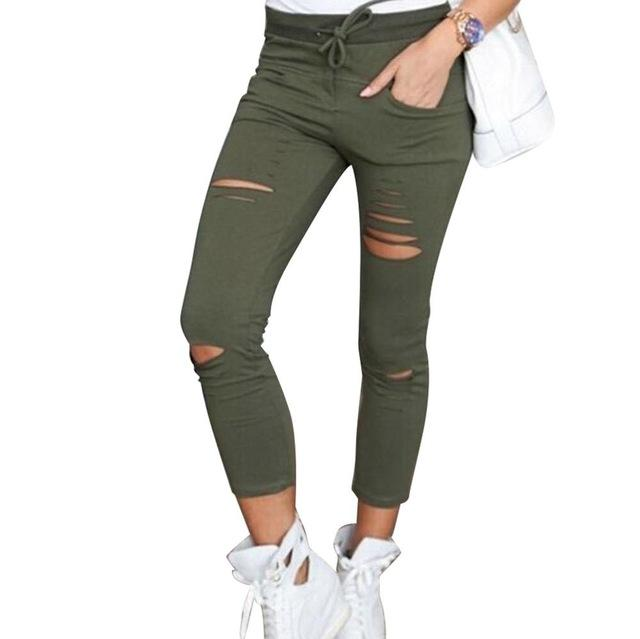 2018 Trousers Women White Pants With High Waist Ripped Jeans For Women Denim Plus Size Black Mom Female Boyfriend Jeans Woman-rodewe