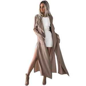 Women Ladies Long Sleeve Tops Cardigan Waterfall Jacket Outwear Long Coat 17Oct3-rodewe