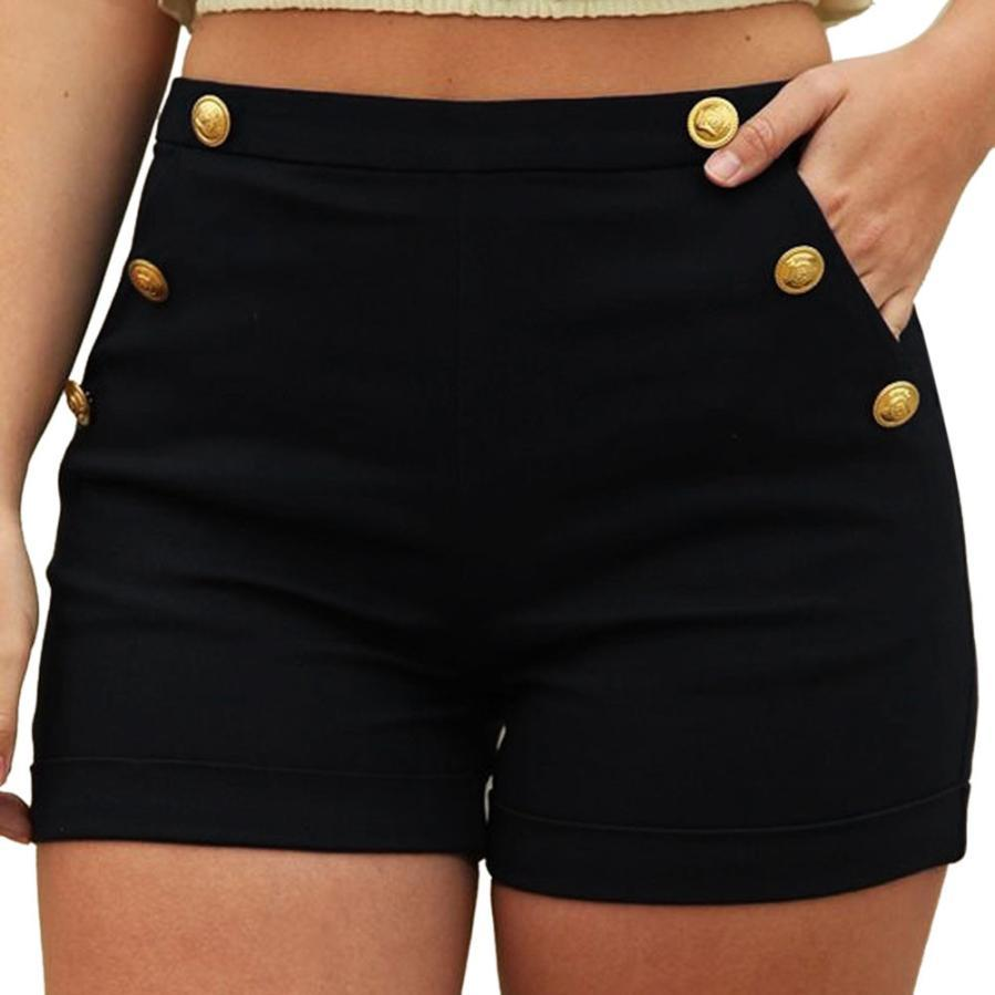 Woman jeans 2018 Women Casual Plus Size Zipper Elastic Band Hot Pants Lady Summer Shorts Trouser 7.13-rodewe