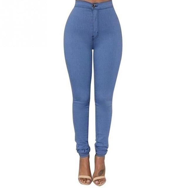 New Fashion Ultra-thin Pure Color Slim Skinny Jeans Women Sexy High Elastic Ankle-length Pants Girls Pencil Pants 6 Colors-rodewe