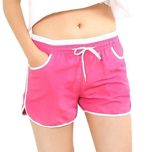 2018 Women Drawstring Quick Dry Breathable Casual Short Pants Ladies Loose Candy Color Hot Shorts Women Summer Shorts-rodewe